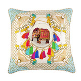 Agra Cloud Large Silk Cushion, Bivain - CultureLabel - 2
