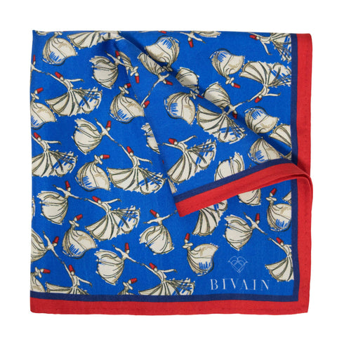 Dervish Dancers Silk Pocket Square, Bivain - CultureLabel - 1