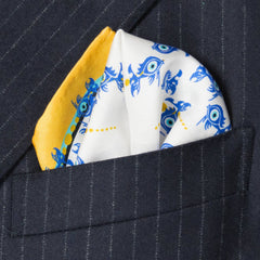 Evil Eye Silk Pocket Square, Bivain Alternate View