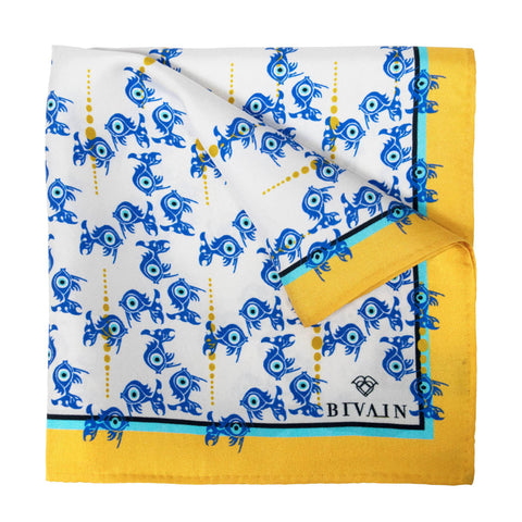Evil Eye Silk Pocket Square, Bivain - CultureLabel - 1