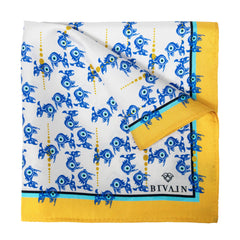 Evil Eye Silk Pocket Square, Bivain