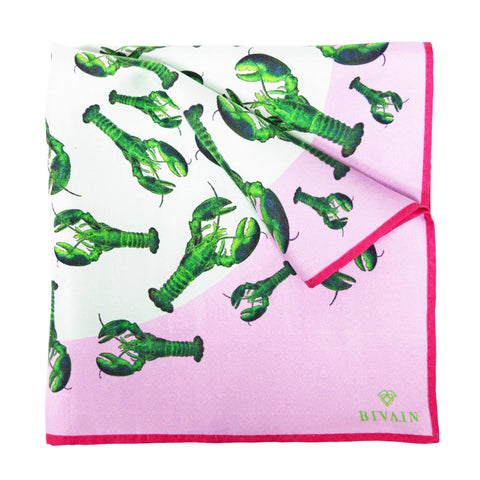 Lobster Silk Pocket Square, Bivain