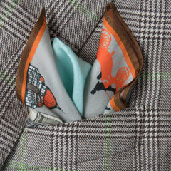 Florentine Silk Pocket Square, Bivain Alternate View