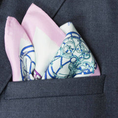 Calibre Silk Pocket Square, Bivain Alternate View