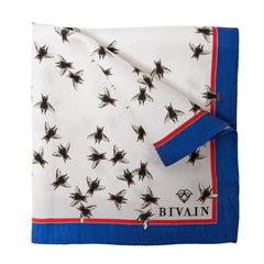 Fly Silk Pocket Square, Bivain