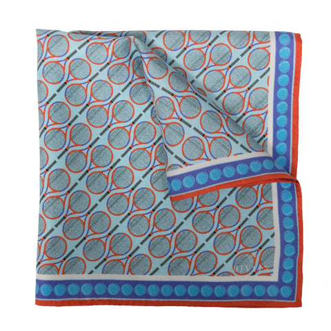 Wimbledon Silk Pocket Square, Bivain - CultureLabel - 1