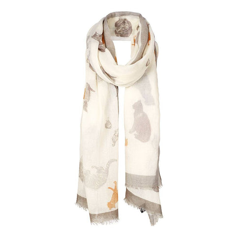 Elizabeth Blackadder Cats Scarf, The Royal Academy - CultureLabel