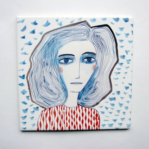 Blue Girls Tile, Katy Leigh - CultureLabel - 1