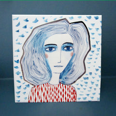 Blue Girls Tile, Katy Leigh Alternate View