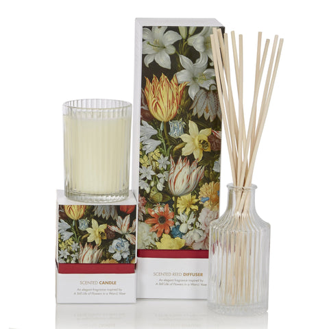 A Still Life of Flowers Candle and Diffuser, Bosschaert - CultureLabel