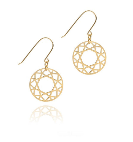 Brilliant Diamond Drop Earrings, Myia Bonner