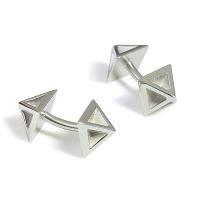 Pyramid Cufflinks, Stephanie Ray - CultureLabel