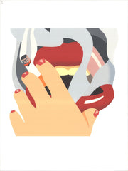 Smoker from an American Portrait, Tom Wesselmann