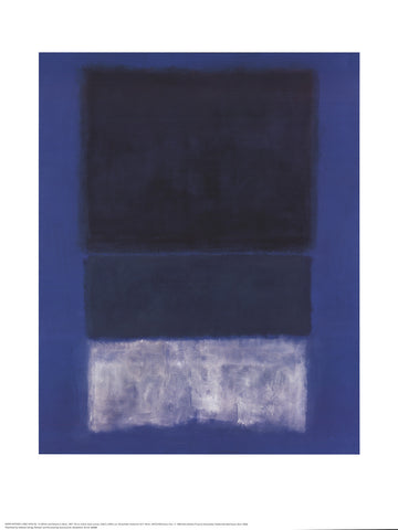 No. 14 White and Greens in Blue, Mark Rothko - CultureLabel