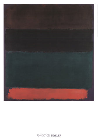 Red-Brown, Black, Green, Red, Mark Rothko - CultureLabel