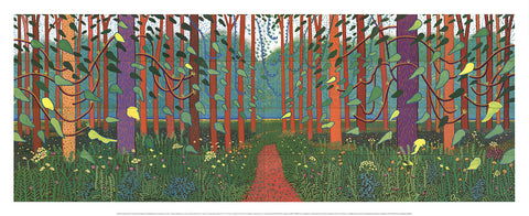 The Arrival of Spring in Woldgate, David Hockney - CultureLabel