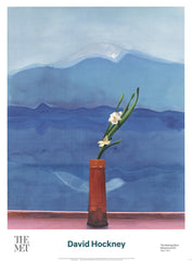 Mount Fuji and Flowers, David Hockney
