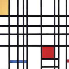 Composition with Yellow, Blue and Reds, Piet Mondrian
