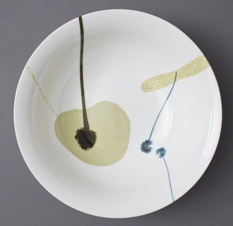 Meadow Stems in Marigold China Bowl, Chimera Collection - CultureLabel