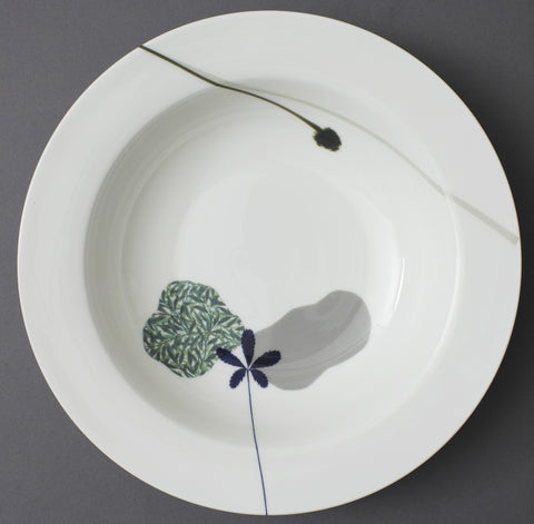 Cinquefoil and Black eye Susan China Serving Dish, Chimera Collection - CultureLabel