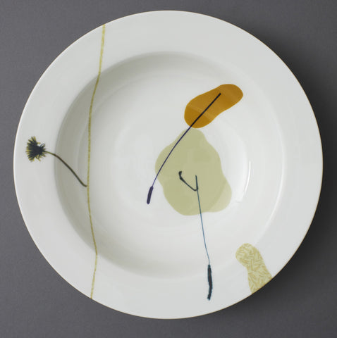 Dandelion and Plantain Stem China Serving Dish - CultureLabel - 1