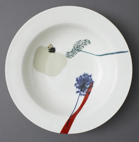 Plantain Grass Wild Carrot and Willow China Serving Dish - CultureLabel
