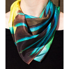 Kingfisher Silk Scarf, Candle Key Alternate View