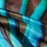Kingfisher Silk Scarf, Candle Key - CultureLabel - 4
