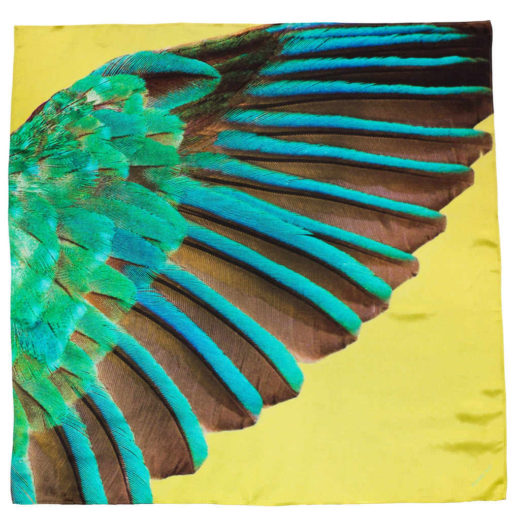 Kingfisher Silk Scarf, Candle Key - CultureLabel - 1