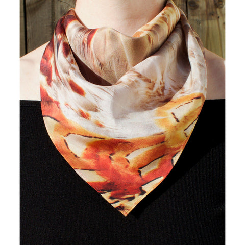 Pheasant Silk Scarf, Candle Key Alternate View
