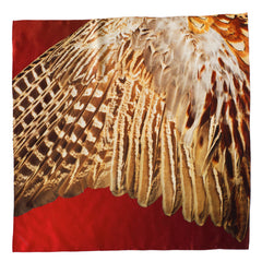 Pheasant Silk Scarf, Candle Key