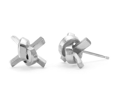 Square Knot Studs, Jessica Poole Alternate View