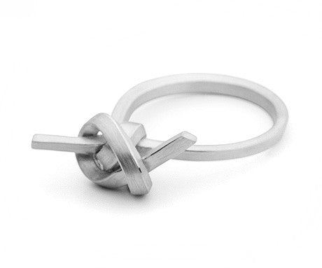 Flat Knot Ring (White Gold), Jessica Poole - CultureLabel