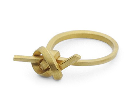 Flat Knot Ring (9ct Gold), Jessica Poole - CultureLabel