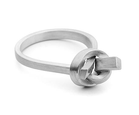 Top Knot Ring (Silver), Jessica Poole