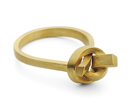 Top Knot Ring (Gold), Jessica Poole