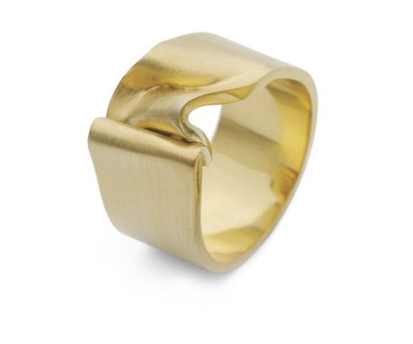Gold Crushed Velvet Ring 1, Jessica Poole - CultureLabel
