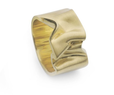 Gold Crushed Velvet Ring 2, Jessica Poole - CultureLabel
