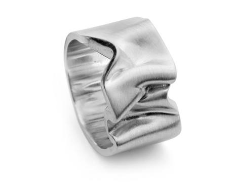 White Gold Crushed Velvet Ring 2, Jessica Poole - CultureLabel