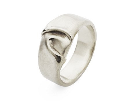 Wide Draped Silk Ring, Jessica Poole