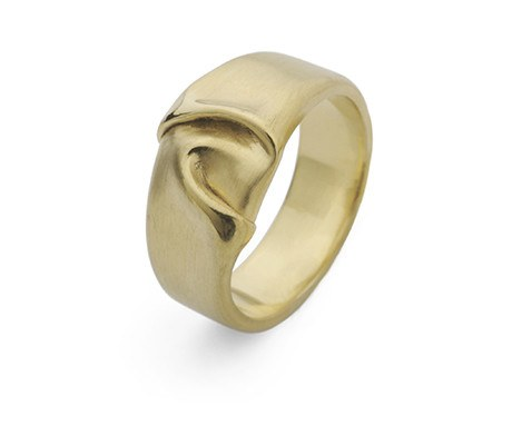 Wide Draped Silk Ring, Jessica Poole Alternate View