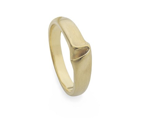 Thin Draped Silk Ring, Jessica Poole Alternate View