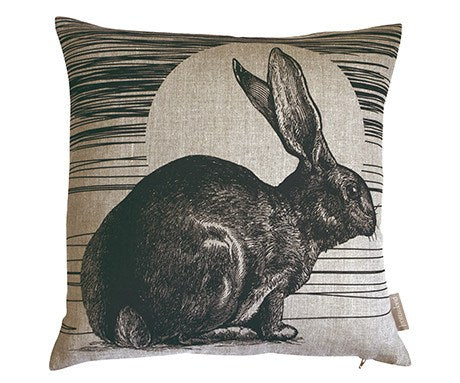 Rabbit & Sun Cushion, Jen Rowland - CultureLabel