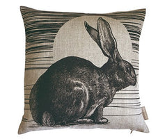 Rabbit & Sun Cushion, Jen Rowland