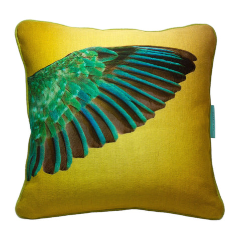 Kingfisher Cushion - Square, Candle Key - CultureLabel