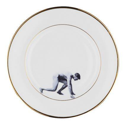 Man on the Run Bone China Plate, Melody Rose - CultureLabel