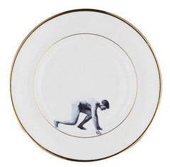 Man on the Run Bone China Plate, Melody Rose