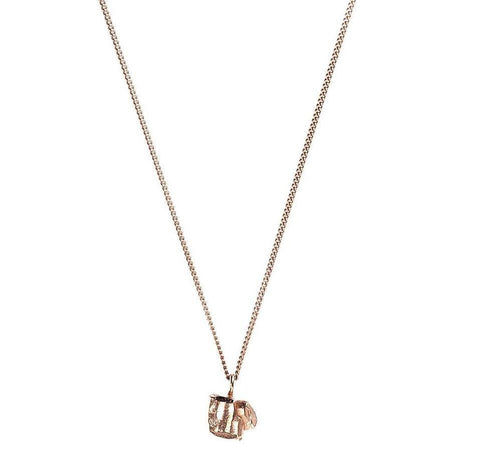Nugget Stud Necklace in Rose Gold, Ros Millar