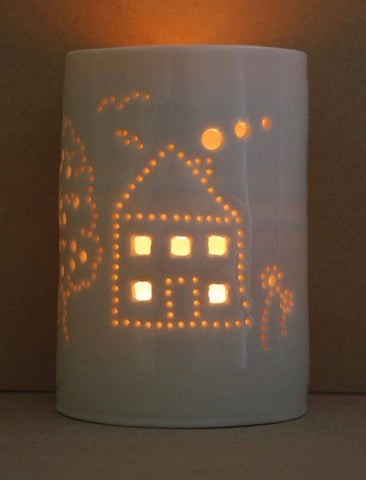 House and Garden Maxi Tealight Holder, Luna Lighting - CultureLabel