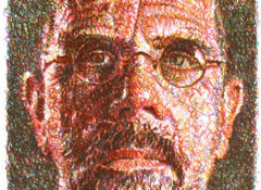 Self Portrait, Chuck Close Alternate View